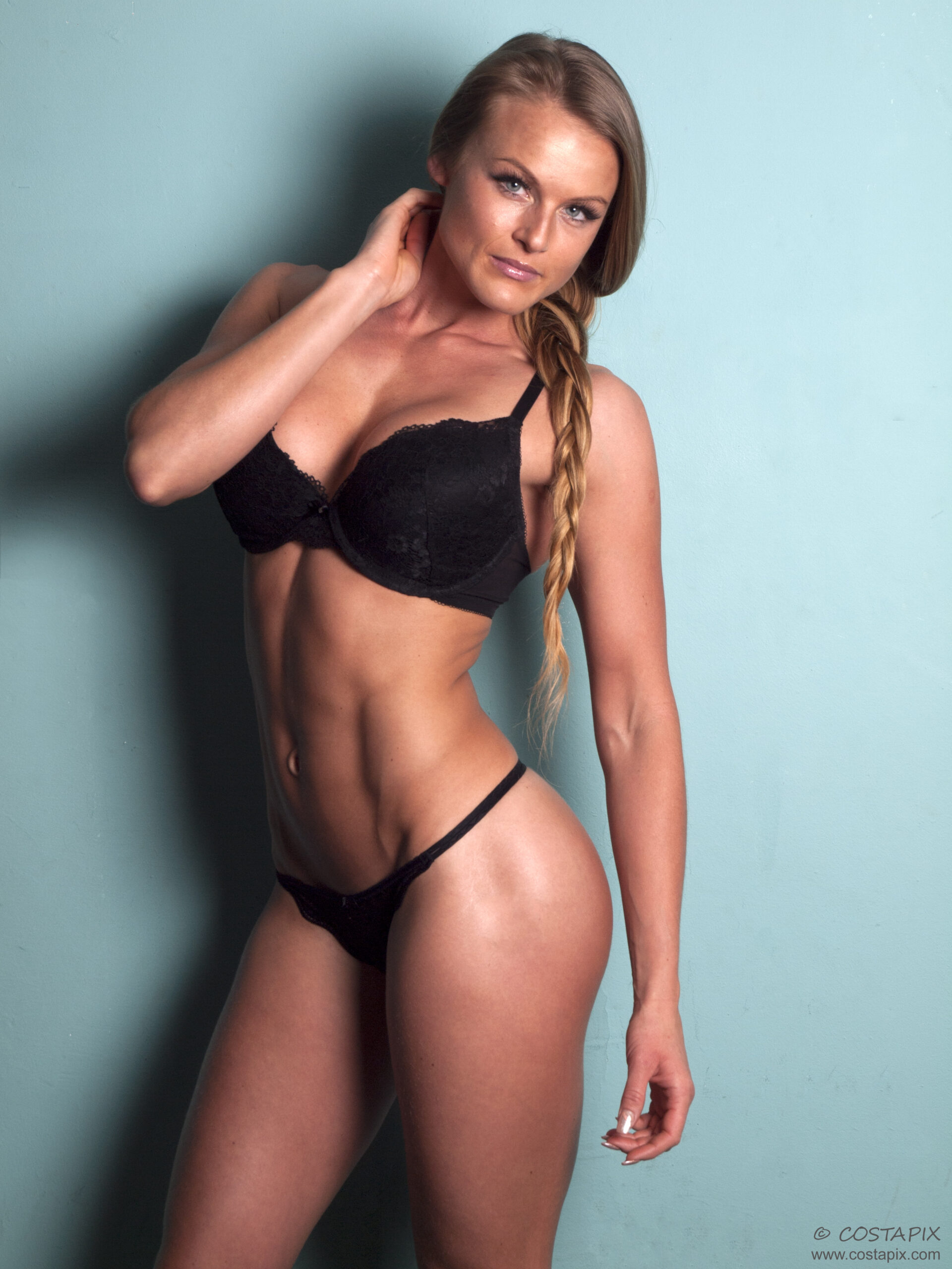 Evita Breide IFBB Pro bikini in Costapix studio